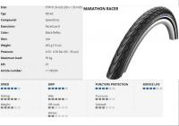 SCHWALBE KÜLSŐ 622-35 (28X1.35) MARATHON RACER PERF HS429 RG SPG REF LS 465G